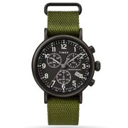 Timex - Standard Chronograph 41mm Fabric Strap Watch - Green