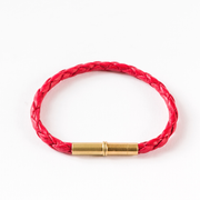 Tres Cuervos Flint Single Bracelet - Waxed Canvas Red
