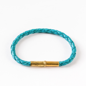 Tres Cuervos Flint Single Bracelet - Waxed Canvas Turguoise