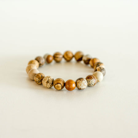 Sunkissed Earth Bracelet Matte Picture Jasper