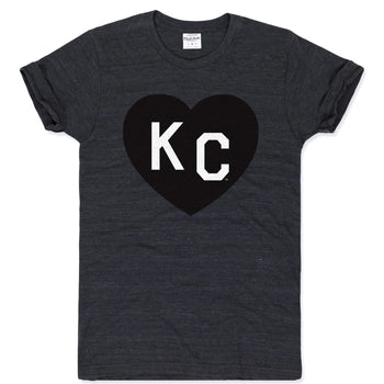 Charlie Hustle KC Heart Tee, Black