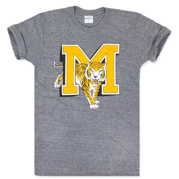 Charlie Hustle Vintage Tiger MU Tee - Heather Grey