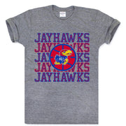 Charlie Hustle Jayhawks Starting Lineup Tee - Heather Grey