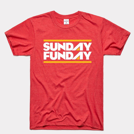 Charlie Hustle Sunday Funday Vintage Arrowhead T-Shirt - Red