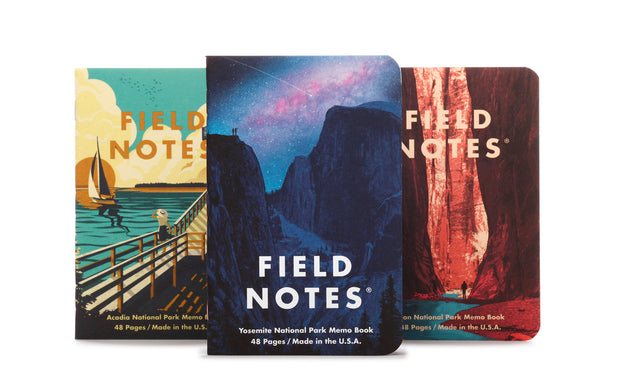 Field Notes - National Parks - Series A: Yosemite, Acadia, Zion