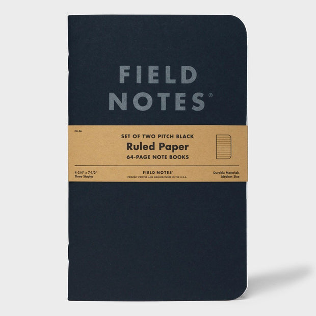 Field Notes - Pitch Black Ruled Memo Book