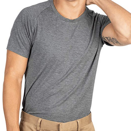 Mr. Davis Traditional Crew Undershirt - Charcoal