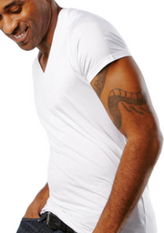 Mr. Davis Traditional Cut V-Neck Undershirt - White