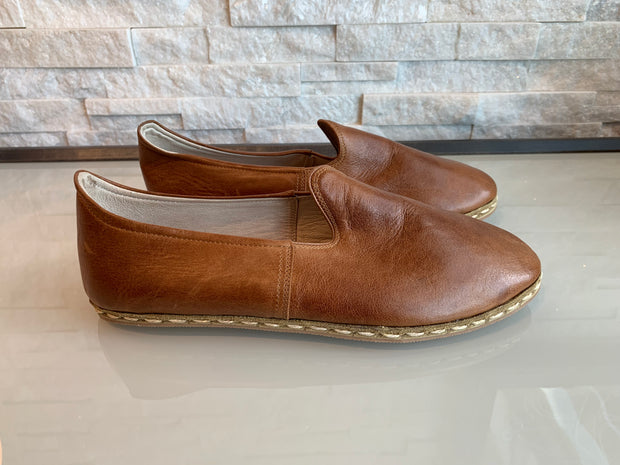 Nida Lu Emir Soho Handmade Shoes - Brown Leather