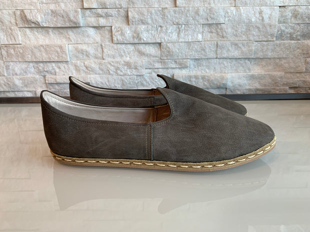 Nida Lu Emier Soho Handmade Shoes - Grey Leather