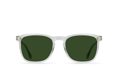 Raen Wiley Sunglasses - Fog Crystal/Bottle Green