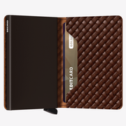 SECRID Slimwallet - Basket Brown