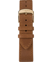 Timex Watch - Standard 40mm Leather Strap - Gold-Tone/Brown/Blue