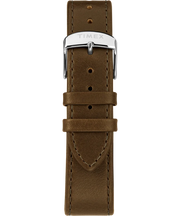 Timex Watch - Standard 40mm Leather Strap - Silver-Tone/Green/Gray