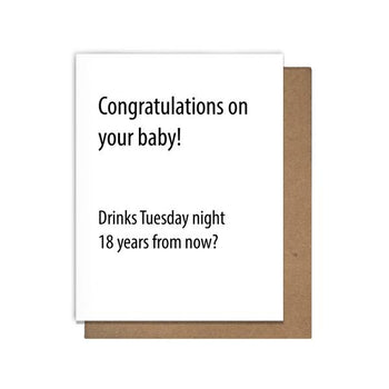 Pretty Alright Goods - New Baby Drinks Card