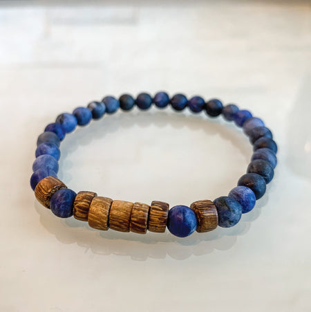 Sunkissed Earth Bracelet - Matte Sodalite