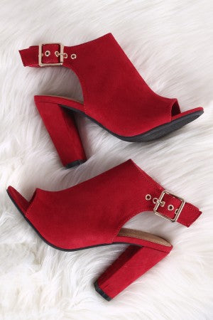 Trendy Open Toe Chunky Heels