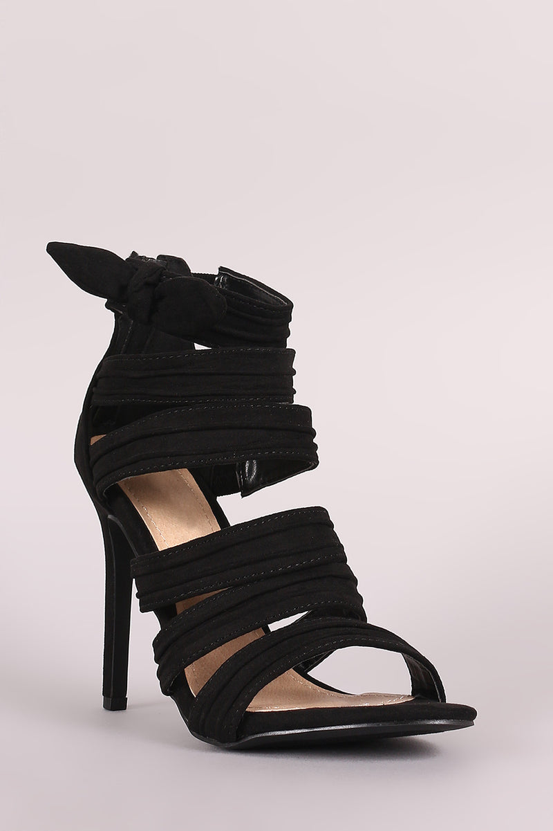 Beautiful and lovely accent strap heels