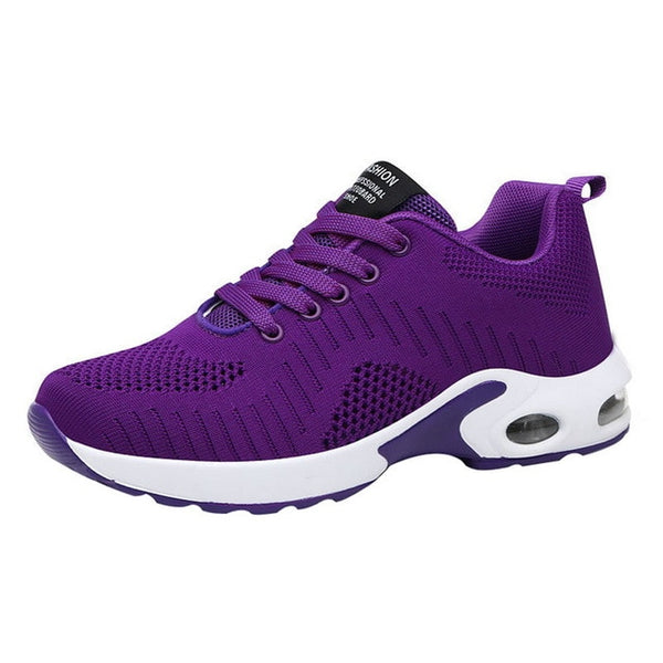 PUIMENTIUA 2019 Shoes Woman Air Mesh Cushion Women Fashion Sneakers Plus Size 42 Ladies Damping Sport Shoes Women's Flats