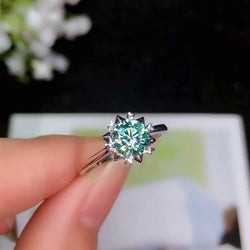 Silver Moissanite Ring
