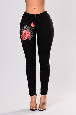 Full-Length Fashion Butt Lift Denim High-Waist Jeans