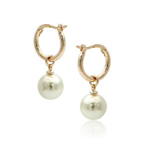 Sea WHITE Pearl Earring