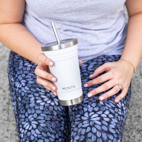 active truth tights and montiico smoothie cup