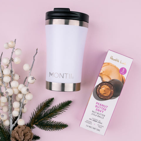 Montii Coffee Cup and Nut Butter Balls