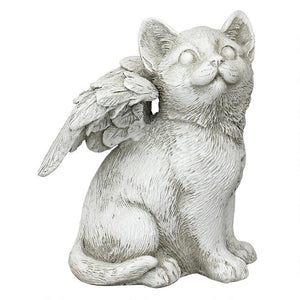Loving Friend, Memorial Pet Cat Statue - BirdHousesAndBaths.com