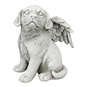 Loving Friend, Memorial Pet Dog Statue - BirdHousesAndBaths.com