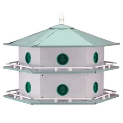 Aluminum 12-Room Deluxe Purple Martin House - BirdHousesAndBaths.com