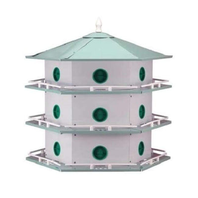Aluminum 18-Room Deluxe Purple Martin House - BirdHousesAndBaths.com