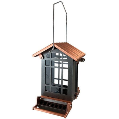 Audubon Copper Colored Top Chateau Squirrel Resistant Bird Feeder - BirdHousesAndBaths.com