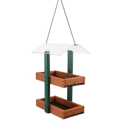 Audubon Going Green Double Platform Green & Brown Bird Feeder - BirdHousesAndBaths.com