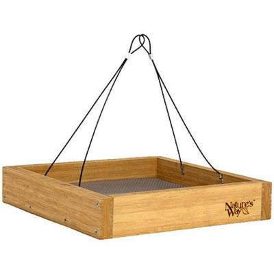 Bamboo Tray Bird Feeder - BirdHousesAndBaths.com