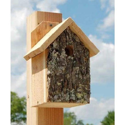 Bark Clad Wren House - BirdHousesAndBaths.com