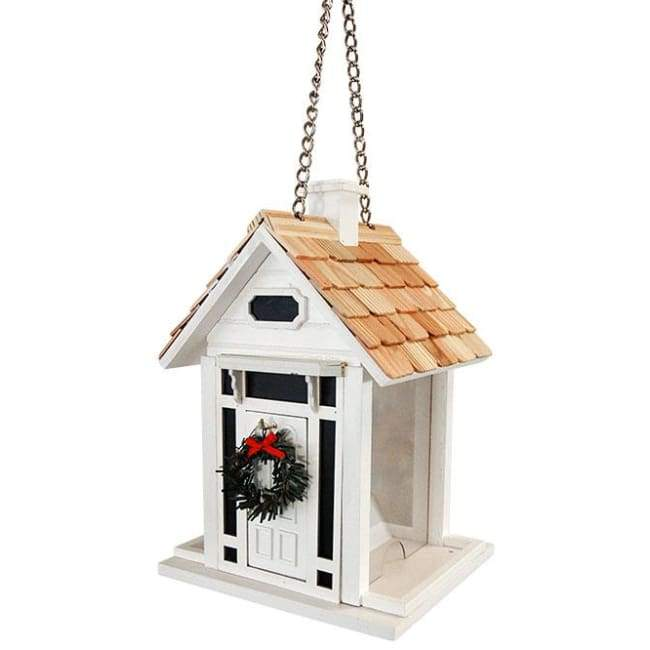 Bellport Cottage Holiday White Bird Feeder