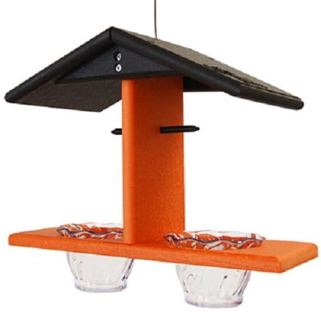 Black and Orange Recycled Plastic Double Oriole Feeder - BirdHousesAndBaths.com