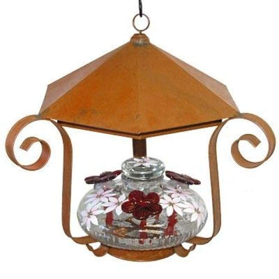 Bloom Shelter Botanica Hummingbird Feeder, Clear - BirdHousesAndBaths.com