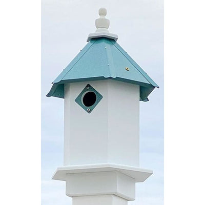 Bluebird Hexagonal Bird House with Verdigris Roof - BirdHousesAndBaths.com