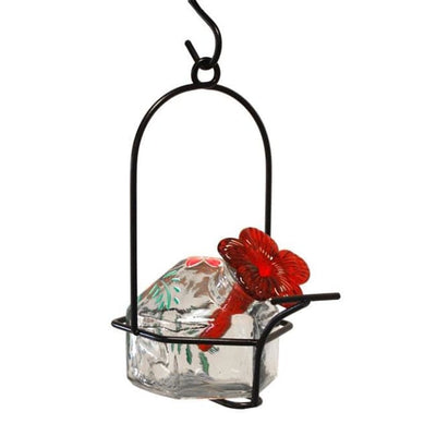 Botanica Lunch Pail Clear Hummingbird Feeder - BirdHousesAndBaths.com