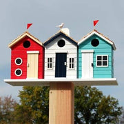 Brighton Beach Huts Bird House - BirdHousesAndBaths.com