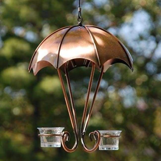 Brushed Copper Oriole Feeder - BirdHousesAndBaths.com