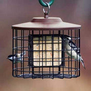 Brown Caged Double Suet Feeder