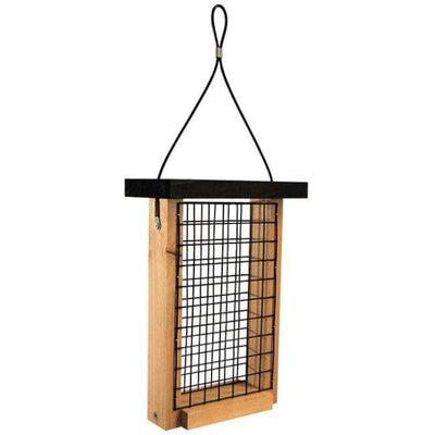 Cedar Double Suet Feeder - BirdHousesAndBaths.com