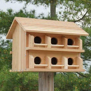 Cedar 12 Room Purple Martin House with Round Holes