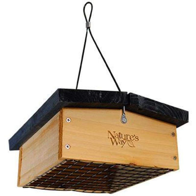 Cedar Upside-Down Large Seed Cake Feeder - BirdHousesAndBaths.com