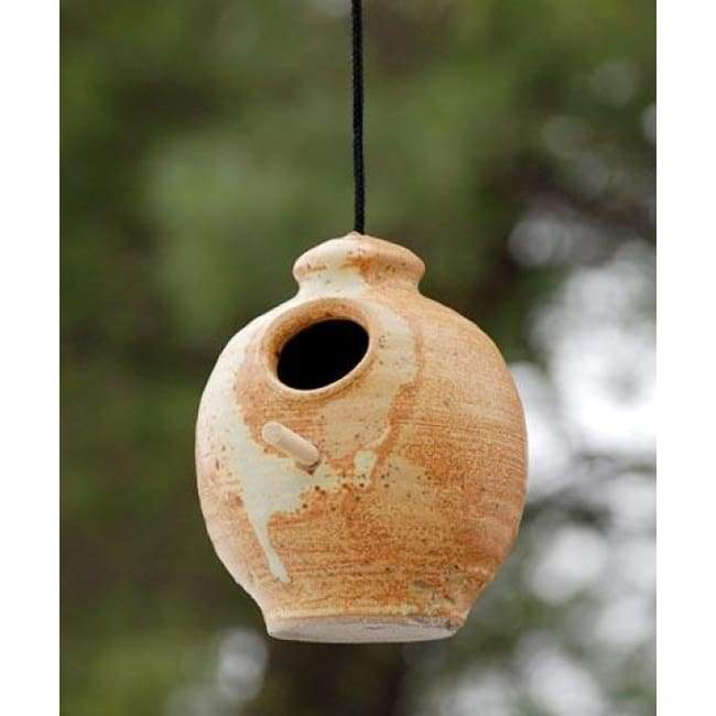 Ceramic Butternut Bird Feeder
