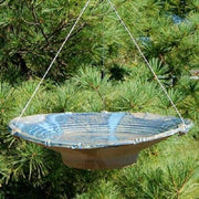 Ceramic French Blue Large Bird Bath - BirdHousesAndBaths.com