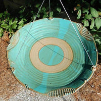 Ceramic Teal Large Bird Bath - BirdHousesAndBaths.com